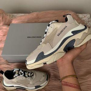 Balenciaga Triple S sneakers (Black & Beige)